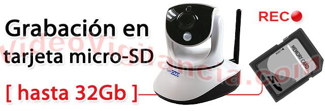 Grabación en tarjeta micro SD incluida.