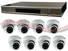KIT VIDEOVIGILANCIA FULL HD 1080P 8 CÁMARAS AMPLIABLE