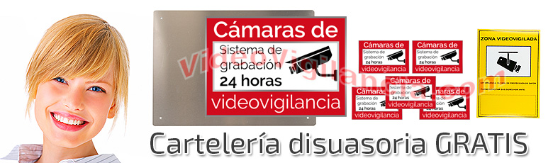Cartes gratis incluidos en su kit de videovigilancia Full HD