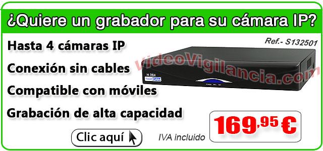 Grabador IP para 4 cámaras IP wifi.