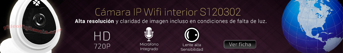 Cámara IP Wifi de interior con resolución HD 720P